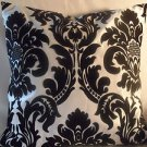 Handmade Decorative Black and White Damask Pillow Cover,Throw Covers, 20 x20