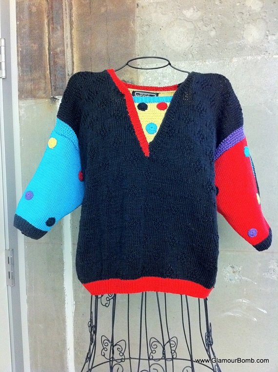 80s Vintage Sweater from Berek New York circa 1987