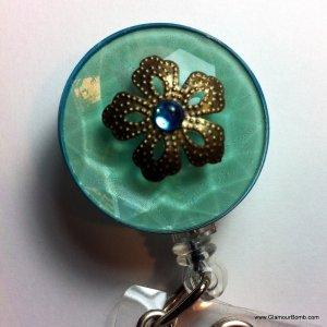 Bejeweled ID Badge Reel