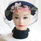 Belvedere New York Womens Vintage Veiled Hat Circa 1930s