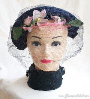 Belvedere New York Womens Vintage Veiled Hat Circa 1930s