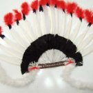 flamboyant  red indian headgear