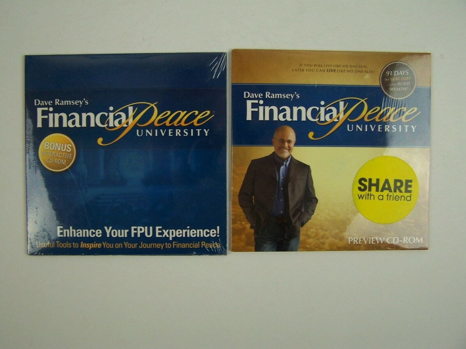 Dave Ramsey Financial Peace CD Lot New Sealed