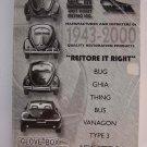 Volkswagen Restore It Right West Coast Metric Catalog 22 Glove Box Edition