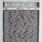 Maximum Rocknroll Magazine February 2015 MRR #381 San Francisco Music Scene