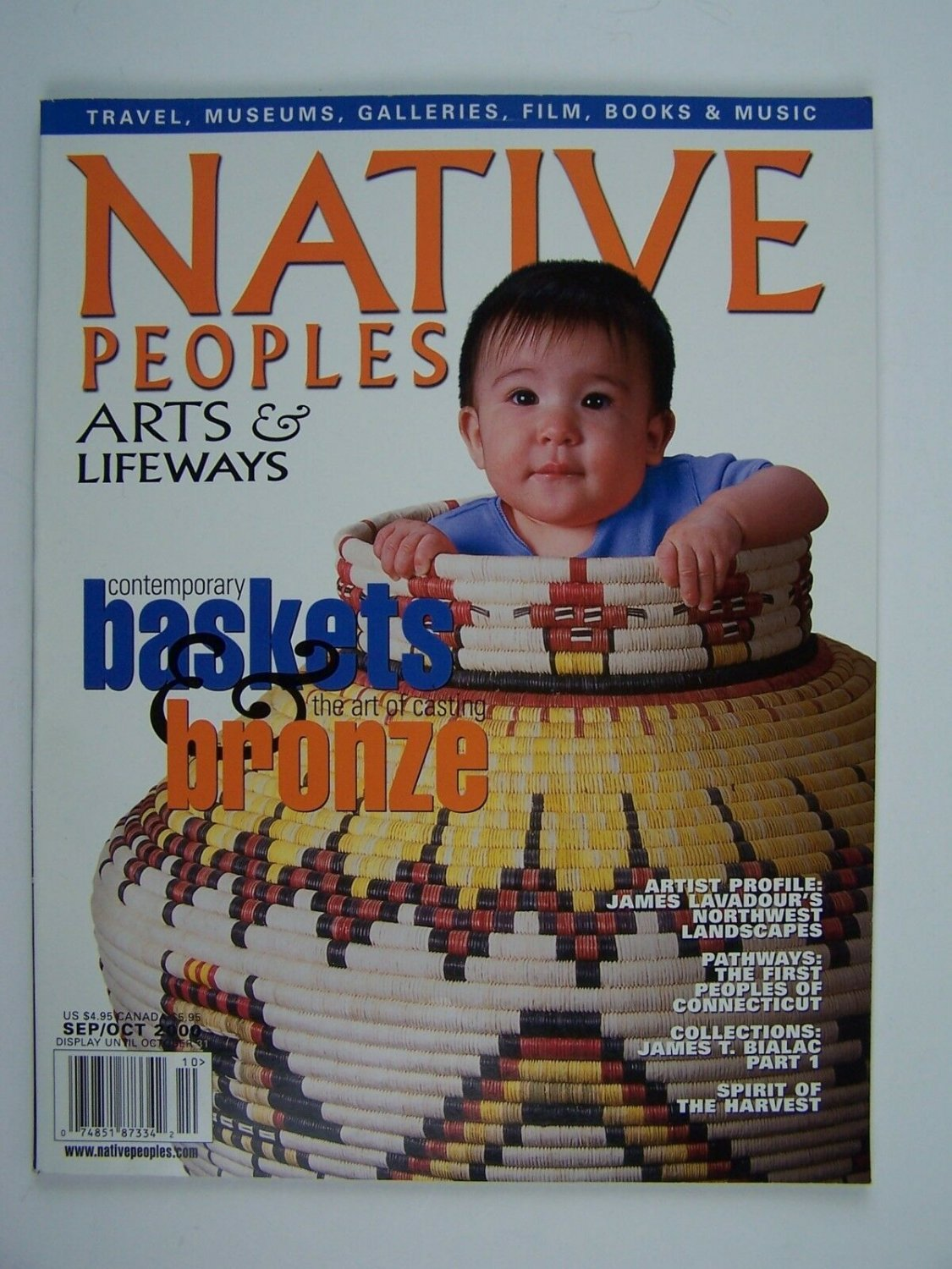Native Peoples Arts & Lifeways Magazine Vol XIII Number 6 Sept/Oct 2000