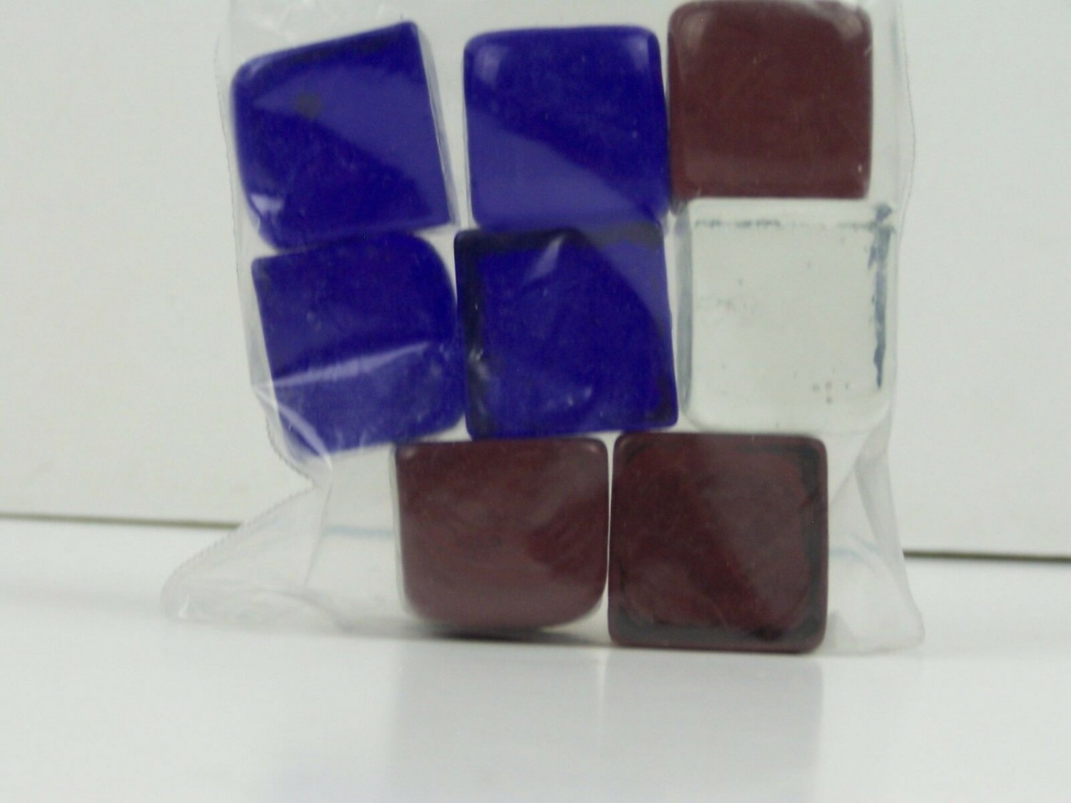 Bag Cube Color Glass Gems Pebbles Stones Flat Marbles for Vase Accents & Crafts