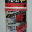 Sony HF Type 1 Normal Bias 60 Minutes Cassette Tape 2 Pack New Sealed