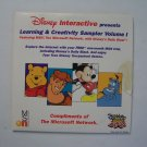 Disney Interactive Learning and Creativity Sampler Vol 1 (PC CD Demo Disc)