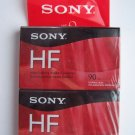 Sony HF Audio Cassette 90 Minute Tapes Sealed Normal Position IECI Type I Lot #2