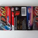 TDK D60 Cassette Tapes 60 Minute Blank High Output IECI/Type I D-60 3 Pck Lot #2