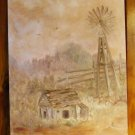 Scenery painting Old Time Windmill and Shed Original Oil Painting