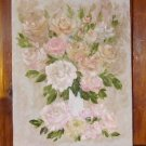 Floral Painting Light Pastel Roses Original Oil Painting