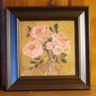 Floral painting Coral Roses oil painting