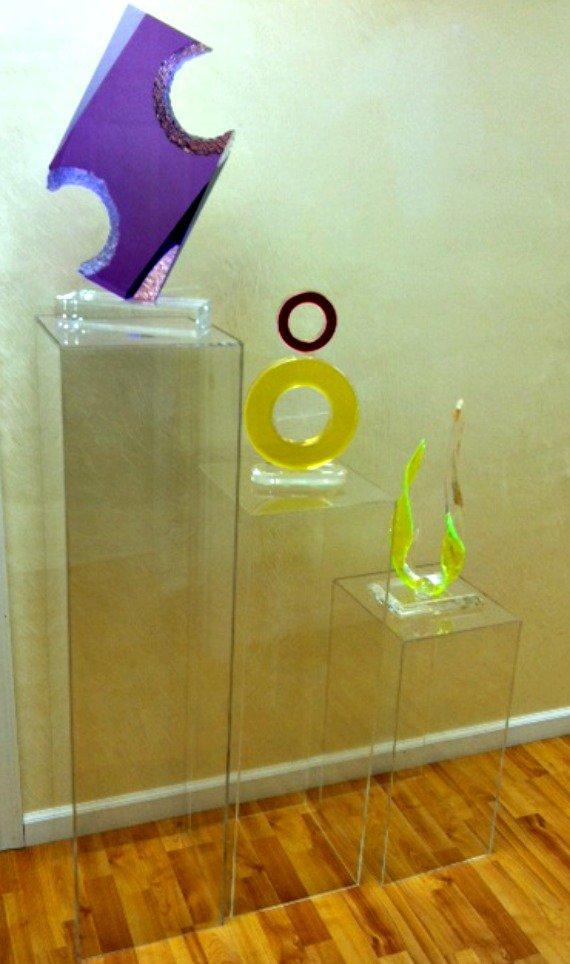 "Clear Acrylic Pedestal 48"" High x 12"" Square (1/4"")"