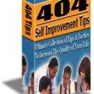 404 SELF IMPROVEMENT TIPS eBook
