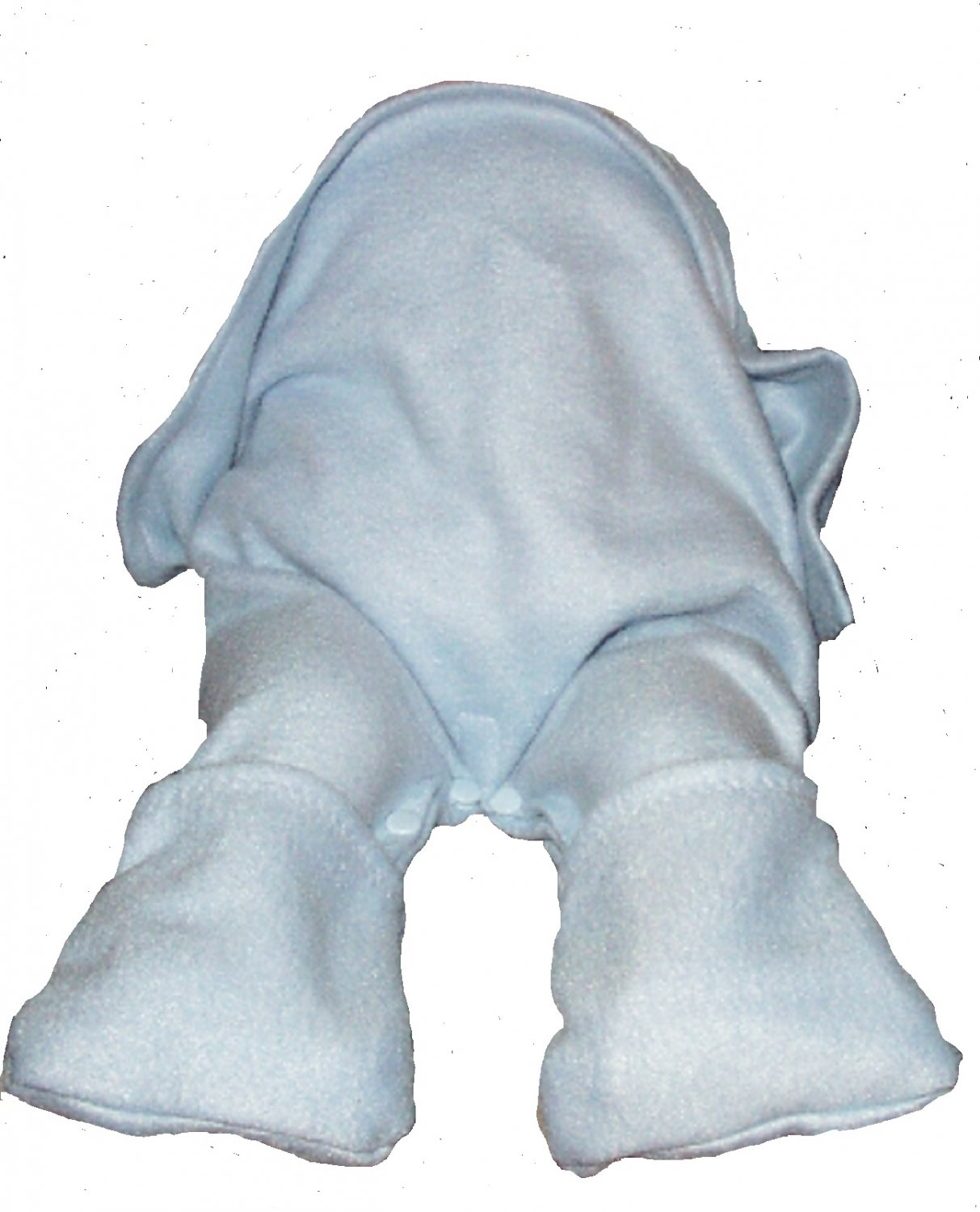 Straddleblanket 6 MONTHS Size SPLIT BABY BLANKET for Bouncer, Stroller, Car Seat  Blue