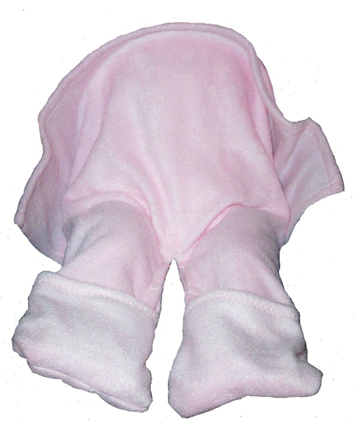 Straddleblanket 12 MONTHS Size SPLIT BABY BLANKET for Walker, Stroller, Car Seat Pink
