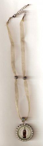 Sheer Ribbon Choker with Bottlecap Pendant