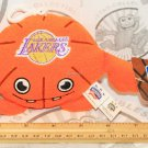 """LOS ANGELES LAKERS NBA CREATURE PLUSH TOY 4"""" FIGURE BALL BACKPACK CLIP 2013 NEW"""