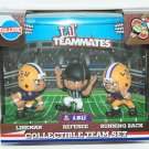 "LSU TIGERS LOUISIANA STATE NCAA - LIL TEAMMATES 3 PACK FOOTBALL 2.5"" TOY"