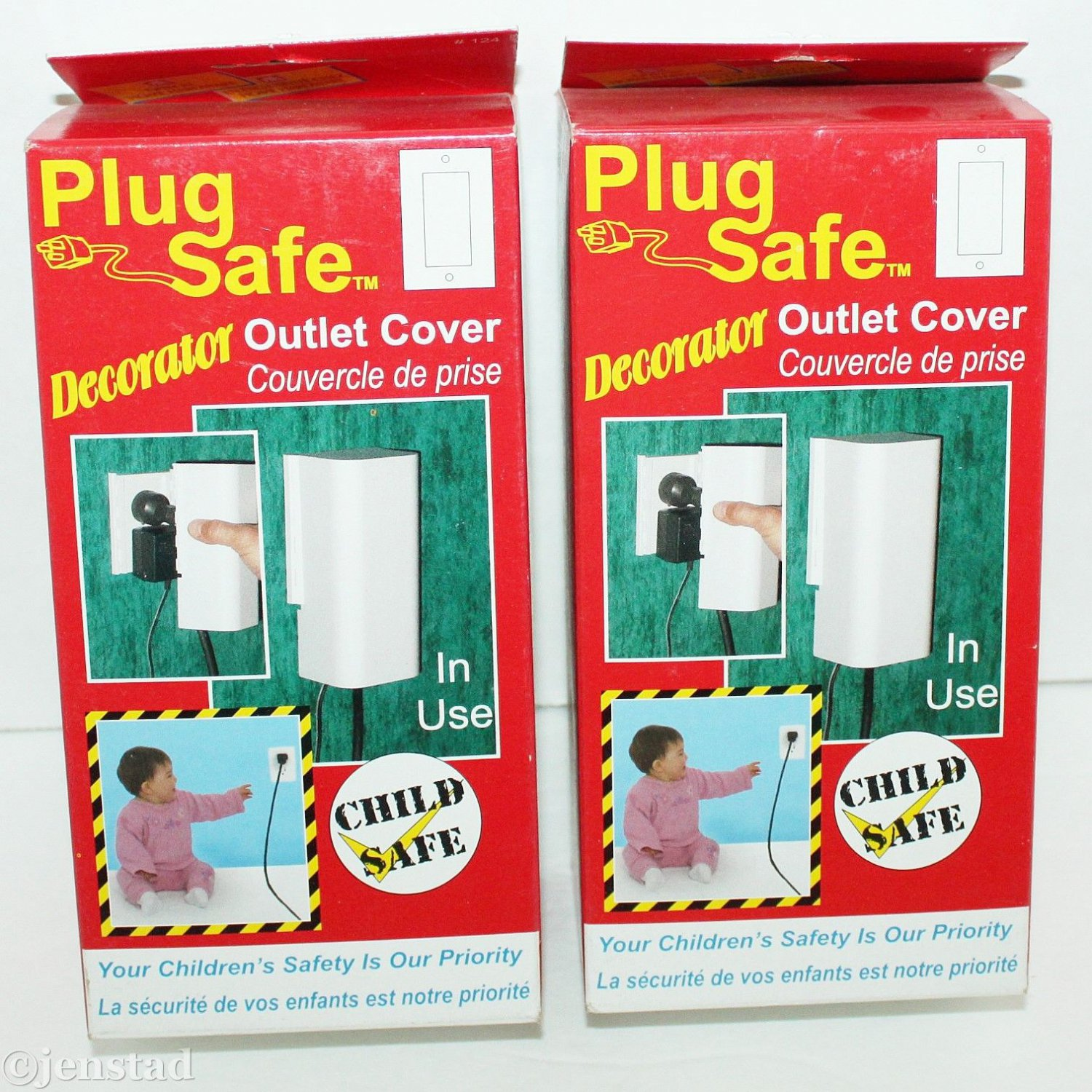 2 LOT PACK PLUG SAFE DECORATOR WIRES OR WALL PLUG OUTLET COVERS BABY CHILD #124