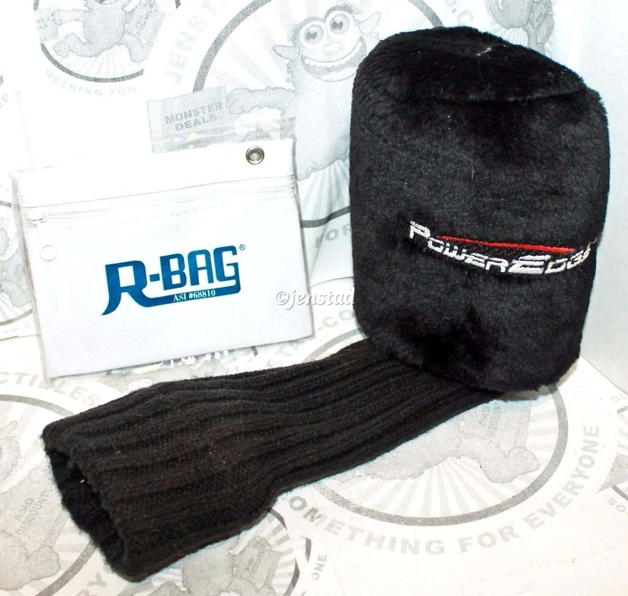 POWEREDGE #7 PROTECTIVE HEADCOVER GOLF CLUB ACCESSORY & R-BAG POUCH USED