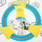 """BLUE RED PLASTIC FLYING 11"""" DISC RING FUN ACTIVITY OR TOY GAME FOR OUTDOORS NEW"""
