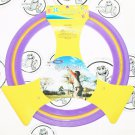 "PURPLE YELLOW PLASTIC RUBBER FLYING 11"" DISC RING TOY GAME FUN FOR OUTDOORS NEW"