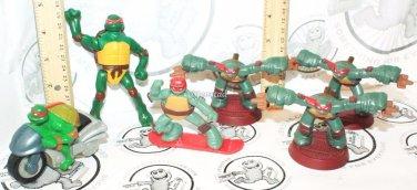 6 Lot Raphael Tmnt Teenage Mutant Ninja Turtles Mcdonalds Toy