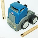 "LITTLE TIKES VINTAGE BLUE GRAY SEMI TOY TRUCK CAB PLASTIC 6.5"" X 8"" VEHICLE USED"