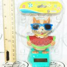 """SOLAR POWER - DOG WITH WATERMELON & SUNGLASSES DANCING TOY 4"""" FIGURE NEW"""