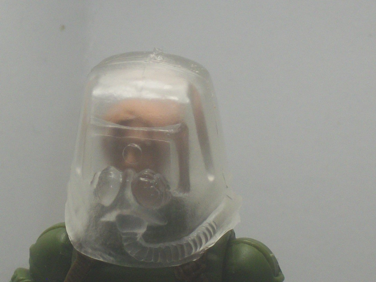 Clear Hazmat helmet