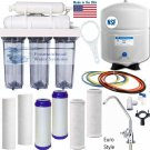 5 Stage Reverse Osmosis 100 GPD, Clear Housings, Complete Kit, Choice of Faucets