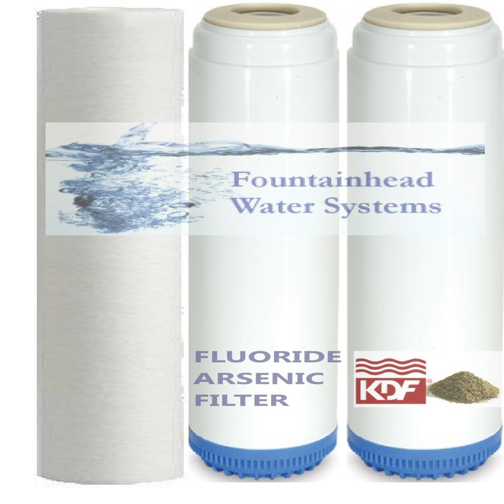 SEDIMENT FILTER/FLUORIDE FILTER/CARBON/KDF BACTERIOSTATIC HEAVY METALS FILTERS.
