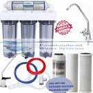 4 STAGE UNDER SINK CLEAR HOUSING SED/CARBON/NEG ORP FAR INFRARED FILTER SYSTEM
