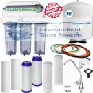 6 Stage Alkaline Reverse Osmosis 100 GPD Clear Housings Faucet Choice Ex Filters