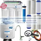 5 Stage ALKALINE Reverse Osmosis System 100 GPD Brushed Nickel Faucet