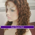 """16"""" Indian Remy Curly Wave Full Lace Wig"""
