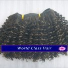"""10"""" Indian Remy Tight Kinky Curl Machine Hair Wefts, 2 packs, 8 oz"""