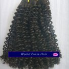 """18"""" Indian Remy Tight Kinky Curl Machine Hair Wefts, 2 packs, 8 oz"""