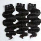 "16"", 18"", 20"" Virgin Brazilian Body Wave Machine Hair Wefts, 3 packs, 12 oz"