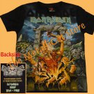 T-SHIRT IRON MAIDEN Somewhere Back Peru 2009 CD SIZE S GIRLS FAN ART