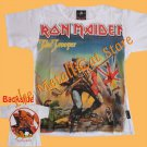 T-SHIRT IRON MAIDEN The Trooper WHITE CD SIZE S for GIRLS