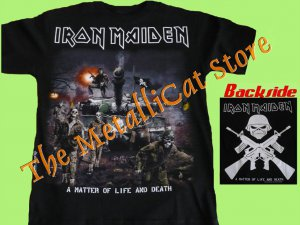 T-SHIRT IRON MAIDEN A Matter of Life and Death DS HEAVY METAL CD SIZE S