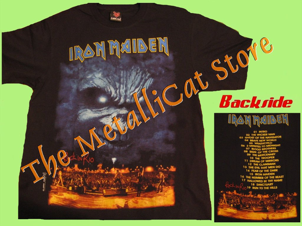 T-SHIRT IRON MAIDEN Rock in Rio HEAVY METAL CD SIZE S