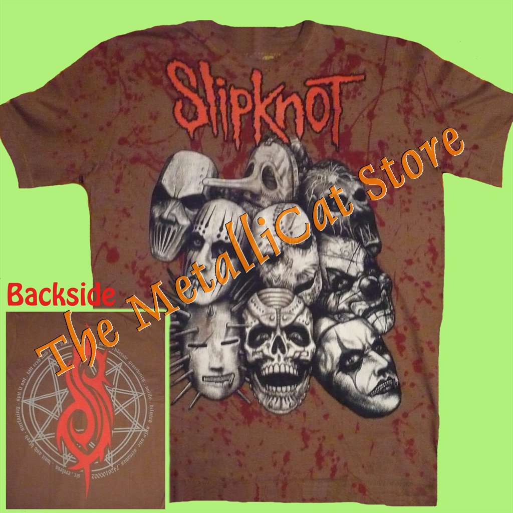 T-SHIRT SLIPKNOT Iowa Band ALLOVER BROWN HEAVY METAL CD SIZE M