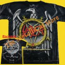 T-SHIRT SLAYER Eagle Logo ALLOVER THRASH METAL CD SIZE L