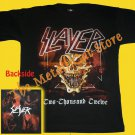 T-SHIRT SLAYER Two Thousand Twelve 2012 THRASH METAL CD SIZE L