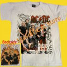 T-SHIRT AC/DC Black Ice WHITE CD SIZE L HEAVY METAL